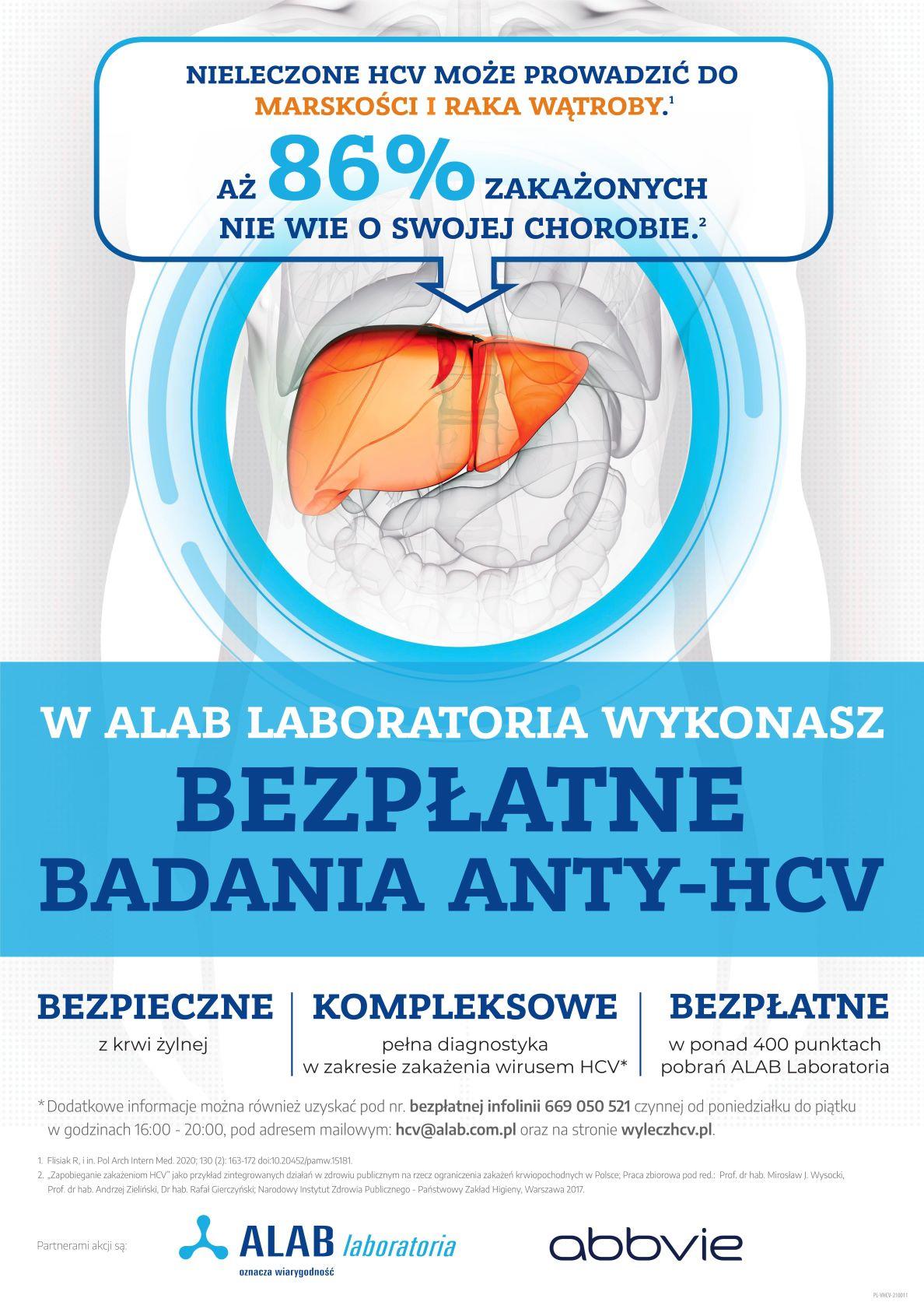 Bezpłatne badana ANTY-HCV