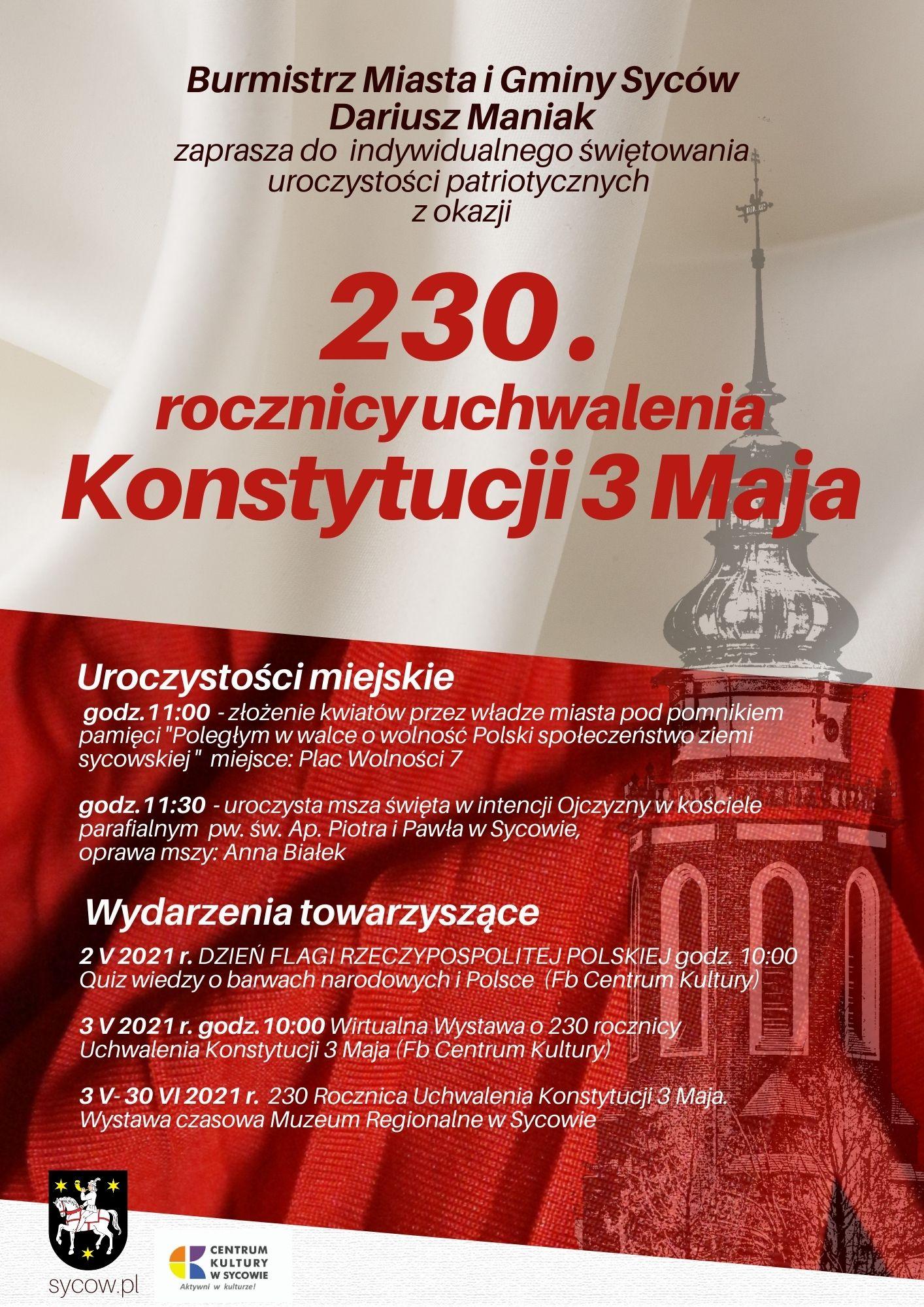 Obchody 3 maja 2021 w Sycowie